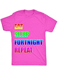 8TN Eat Sleep Fortnight Repeat Parody Unisex-Children T Shirt
