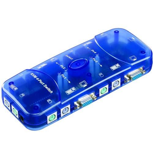 SM-PC®, KVM Umschalter Switch für 4 PC VGA PS2 #105