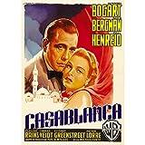 Fabulous Poster Affiche Vieille Affiche Italienne de Film Casablanca Rétro Poster Cinéma Vintage 1 42x65cm