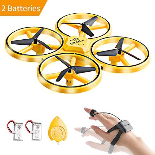 Merit Ocean UFO Mini Drohne Kinderspielzeug RC Quadcopter Infrarot-Induktions Fernbedienung Fliegendes Spielzeug Geschenke für Jungen Mädchen Indoor Outdoor mit zusätzlicher Batterie