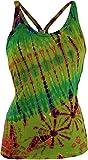Guru-Shop Batik Hippie Top, Tank Top, Damen, Grün, Synthetisch, Size:38, Tops & T-Shirts Alternative Bekleidung