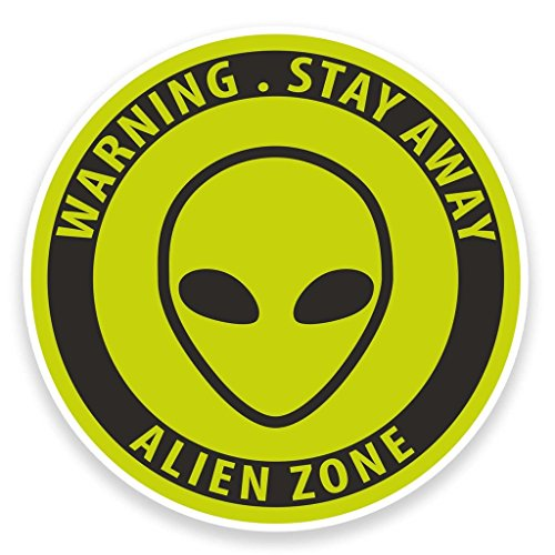 2x Alien vinilo adhesivo portátil viaje equipaje coche iPad Sign Fun # 9219