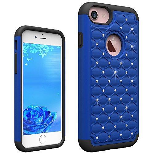 iPhone 7 Plus Hard Case Hülle,iPhone 7 Plus Glitzer Hülle,iPhone 7 Plus Transparent Hülle,iPhone 7 Plus Crystal Clear Case Hülle Klare Cristall Liquid Bling Schutzhülle Etui für iPhone 7 Plus 5.5 Zoll D Bling Case 6
