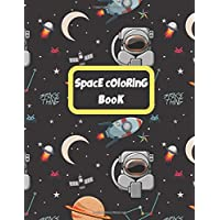 SpacE cOloRinG BooK: For KidS: 49 pictures and 48 facts about astronomy and universe, 8.5x11- BiG siZe