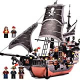 HEHEERHUO New qualityBig Movie Jack Caribbean Pirate Black Pearl Annie Puzzle Child Assembling Boy Building Block Toy DIY Large Ship Model 6-8