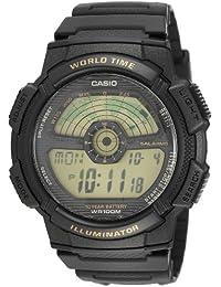 ec96273b36a2 CASIO 19687 AE-1100W-1B - Reloj Caballero Cuarzo Correa Caucho Negro