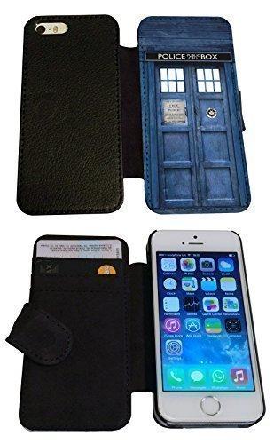 """iPhone 6 4,7 """"Doctor Who Tardis Police Call Box Funky Étui à rabat avec porte-carte porte-monnaie portefeuille antichoc pour portefeuille"""