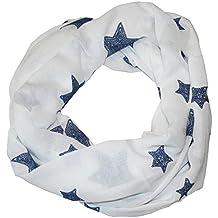 774f89ce36dae0 MANUMAR Loop-Schal für Damen | Hals-Tuch mit Sterne Motiv als perfektes  Herbst