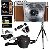 Ritz Camera Canon PowerShot G9 X Digital Camera With 3x Optical Zoom Built-in Wi-Fi LCD Touch Panel (Silver), Lexar 64GB Memory Card, Ritz Gear Photo Pack, Polaroid Tripod, Cleaning Kit And Accessory Bundle