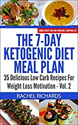 The 7-Day Ketogenic Diet Meal Plan: 35 Delicious Low Carb Recipes For Weight Loss Motivation - Volume 2 (English Edition)