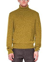 Parisbonbon Men's 100% Cashmere Turtleneck Sweater