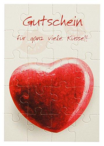 ußkarte Glückwunschkarte Gutschein Küsse (Karte Puzzle)