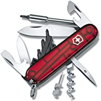 Victorinox - Multiuso 91mm - CyberTool 29 Rosso Translucent Ruby V-1.7605.T - Victorinox Innesto Coltello
