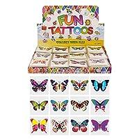HENBRANDT 24 x Butterfly Temporary Tattoos Children