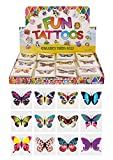 HENBRANDT 24 x Butterfly Temporary Tattoos Children\'s Birthday Loot Party Bag Filler