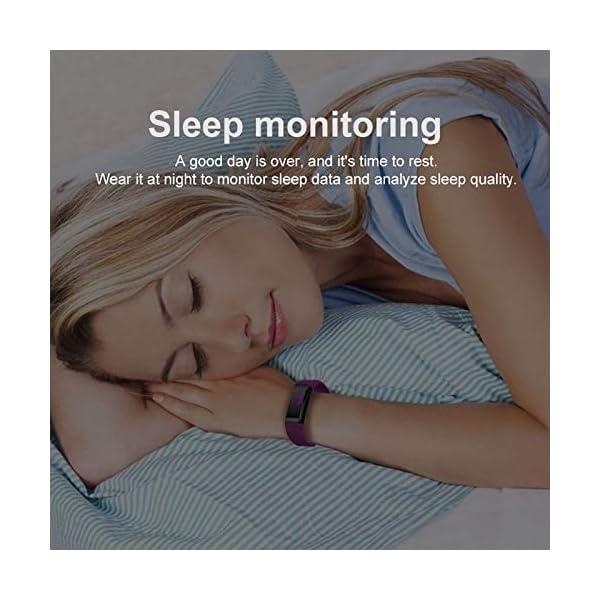 Fitness Tracker, reloj de seguimiento de actividad con monitor de frecuencia cardíaca, IP67 a prueba de agua con contador de pasos, contador de calorías, reloj de podómetro para niños y mujeres 5