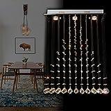 Natsen LED Kristall Deckenleuchte Deckenlampe Hängeleuchte L60cm GU10 Lampe X1055-3B Energieklasse A++