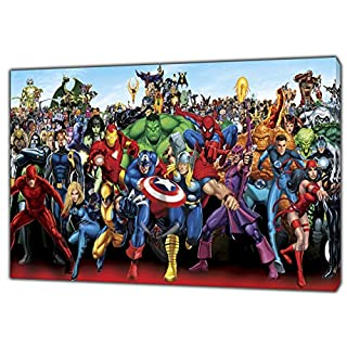 Marvel Superheroes Characters Photo/Picture Print ON Framed Canvas Wall Art Home Decoration 24'' x 16 inch -18mm Depth