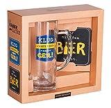 Grafik-Werkstatt 47402 Bier-Set Klug war´s nicht, aber geil!