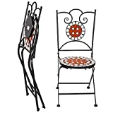 Prezzo TecTake Set arredo Giardino Mosaico Tavolo e sedie in Ferro con Terracotta Ceramica