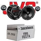 Ford Fiesta MK7 Front Heck - JVC CS-DR1700C - 16cm 2-Wege Lautsprecher System - Einbauset