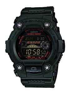 G-Shock Men's Quartz Watch with Black Dial Digital Display and Green Resin Strap GR-7900KG-3ER