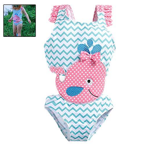 g Baby-Badeanzug Bowknot One-Piece Goldfish-Overall-Badeanzug Sommer Kleinkind Kinder Bademode (Größe 3T) ()
