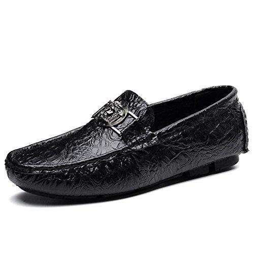 TYLS Shoes lww-Scarpe uomo scarpe di guida in pelle Testa tonda colore solido bocca poco profonda Brown