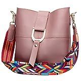 SAIERLONG Damen Lila Echtes Leder Schultertaschen Messenger Bag