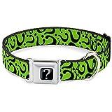 Buckle Down 22,9–38,1cm RDA-Riddler Fragezeichen Full Color Schwarz/Grau Hund Halsband