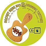 Guitare enfant bois hochet à l\'huile de lin 100% biologique. Hochet bébé bio apaisant haute qualité Europe