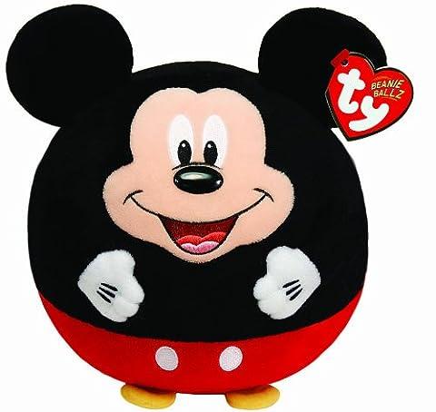 TY 58201 - Disney Ball Large - Mickey Beanie Ballz mit Soundchip, Plüsch, Durchmesser 22 cm