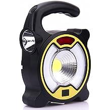 SODIAL Lanterna da campeggio USB ricaricabile COB LED Solar Power Lanterna luce gancio di emergenza