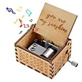 CITOY Hand Cranked Wooden Music Box for Your Love - Best Gift