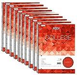 Collegeblock A4 80Bl kar. mit Rand li., 4-fach Lochung, 10er-Pack