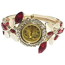 HARRYSTORE Women's Watch Bangle Crystal Flower Bracelet Quartz Wristwatch