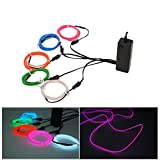 Xcellent Global EL Wire EL Cable Lights Strobing Flashing Electroluminescent Wire 3 Modes Sound Cont