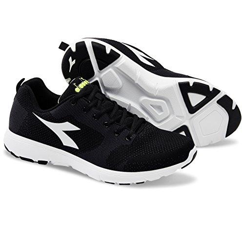 Diadora X Run Light, Chaussures de Running Compétition Homme C6616 NERO/IRON