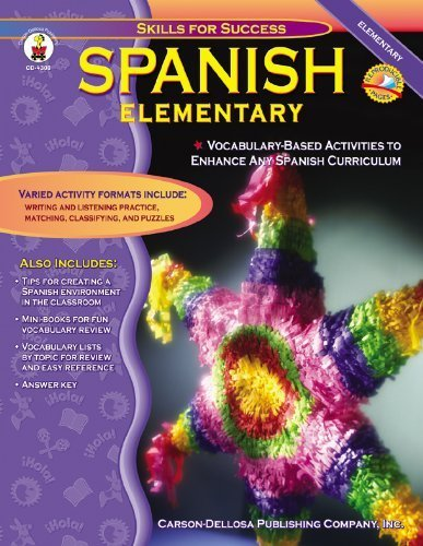 Spanish, Grades K - 5: Elementary (Skills for Success) by Downs, Cynthia (2002) Paperback
