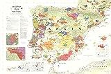 (24x 36) de Long Iberia Wein Karte (Spanien & Portugal)