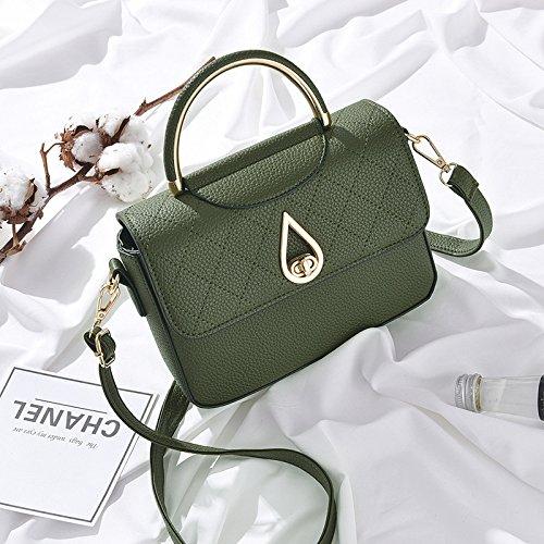 Meoaeo Koreanische Frauen Kleine Tasche Handtasche Schultertasche Schultertasche All-Match Army green