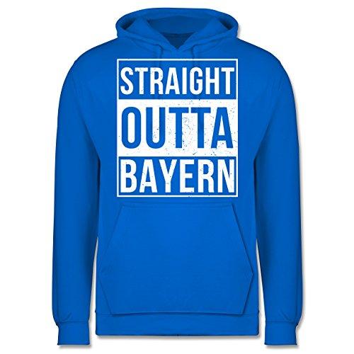 Bayern Männer - Straight Outta Bayern Weiss - JH001 Herren Kapuzen Pullover Himmelblau