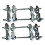2 Stück Doppelrohrschellen DRS 89 - Stahl - für Masten bis 89mm