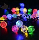zedtom 30LEDs Leuchtmittel Solar Lichterkette Licht Beleuchtung Leuchtmittel LED Halloween/Weihnachten/Hochzeit/2Modi