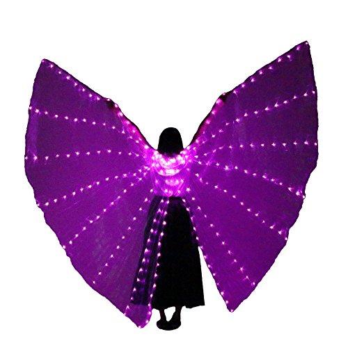 LED Bühne Leistung Prop Frauen Tanz Mädchen LED Luminoso ISIS Leider Leuchten Flügel Kostüm LED Estilo abierto Alas con palos (Rosa) (Isis Mädchen Kostüm)