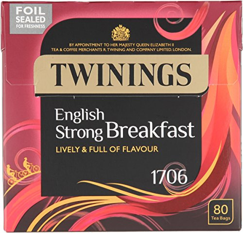 Twinings 1706 Strong Breakfast 80's Pack of 4