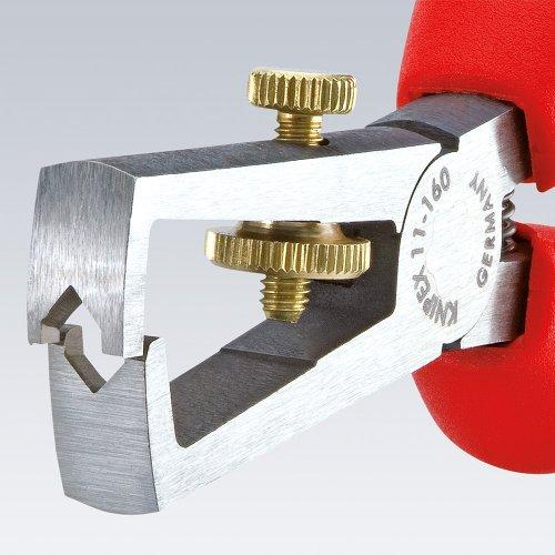 Knipex 1101160EAN Isolation Pince à dénuder en bout gainée plastique Noir 160mm