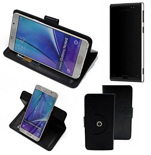 K-S-Trade® Case Schutz Hülle für Lumigon T3 Handyhülle Flipcase Smartphone Cover Handy Schutz Tasche Bookstyle Walletcase schwarz (1x)