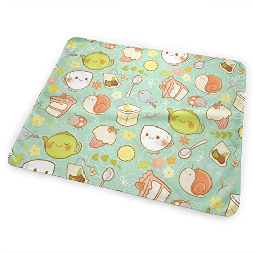 Kotdeqay Garden Tea Party Diaper Changing Pads for Baby Toddler Children and Adults 31.5 X 25.5 inchfor Baby Toddler Children and Adults 31.5 X 25.5 inch