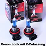 2 x LIMA H11 Xenon Look 12V 55W Halogen Lampe super weiss